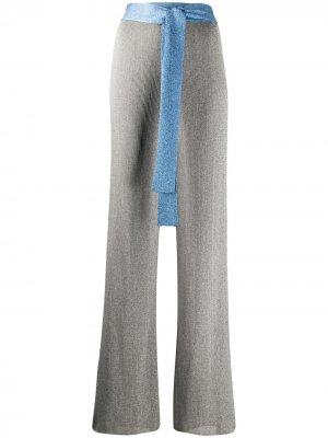 Расклешенные брюки в рубчик M Missoni. Цвет: серебристый