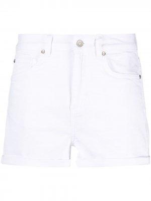 Джинсовые шорты с завышенной талией LIU JO. Цвет: белый