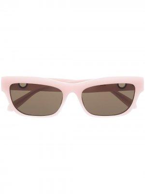 Солнцезащитные очки Lola в прямоугольной оправе из коллаборации с Paco Rabanne Linda Farrow. Цвет: розовый
