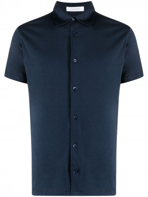 Рубашка с короткими рукавами Cruciani. Цвет: синий