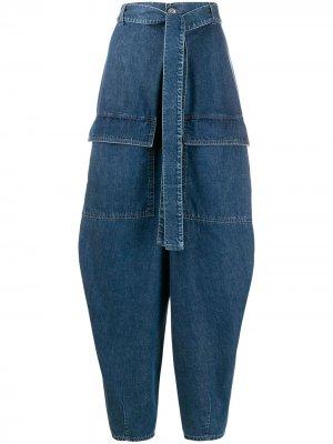 Джинсы-шаровары с поясом Stella McCartney. Цвет: синий