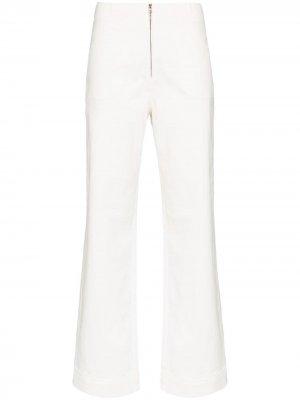 Расклешенные брюки Isabella с завышенной талией USISI SISTER. Цвет: белый