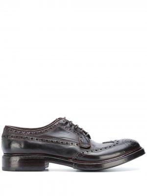 Туфли на шнуровке с перфорацией Premiata. Цвет: фиолетовый