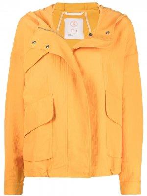 Куртка на молнии Tela. Цвет: желтый