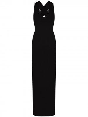 Платье макси Kaia Solace London. Цвет: черный