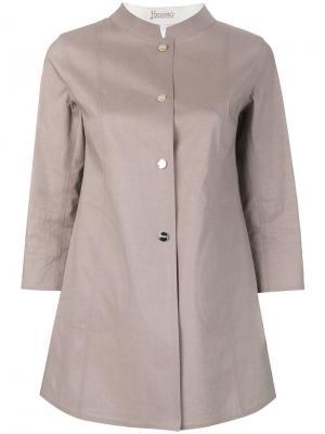 Куртка с рукавами 3/4 Herno. Цвет: серый