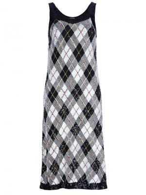 Платье в рисунок аргайл Jean Paul Gaultier Pre-Owned. Цвет: черный