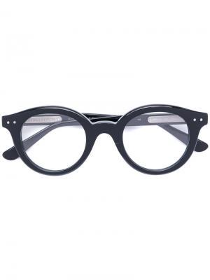 Очки в круглой оправе Bottega Veneta Eyewear. Цвет: черный