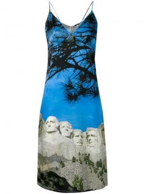 Платье Christine R13. Цвет: синий