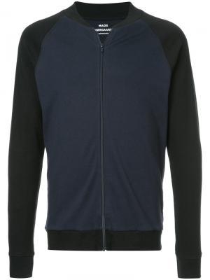 Куртка на молнии с контрастной отделкой Mads Nørgaard. Цвет: черный