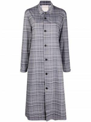 Платье-рубашка Lourdes в клетку Stephan Schneider. Цвет: серый