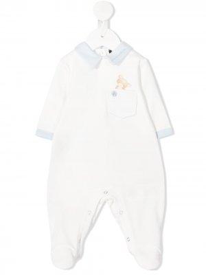 Пижама с принтом Monnalisa. Цвет: белый