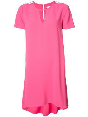 Платье с неравномерным подолом Trina Turk. Цвет: розовый и фиолетовый