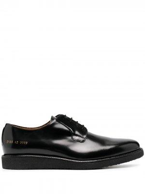 Туфли на шнуровке Common Projects. Цвет: черный