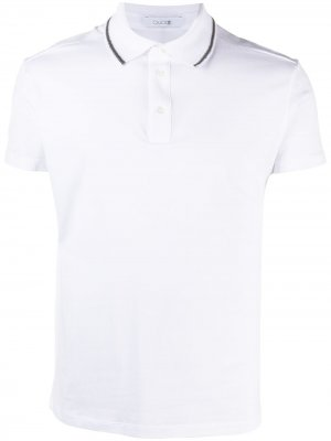 Рубашка поло с контрастной окантовкой Cruciani. Цвет: белый