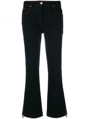 Укороченные расклешенные брюки Osman. Цвет: черный