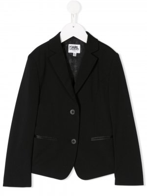 Костюмный пиджак Karl Lagerfeld Kids. Цвет: черный