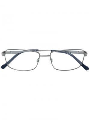 Очки в прямоугольной оправе Pierre Cardin Eyewear. Цвет: металлик