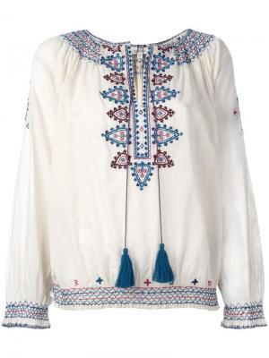 Блузка с вышивкой Talitha. Цвет: нейтральные цвета