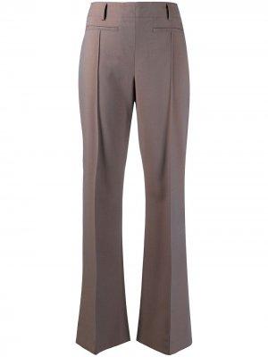 Расклешенные брюки строгого кроя Acne Studios. Цвет: коричневый