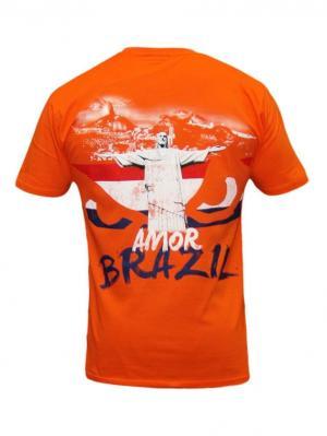 Футболка Bad Boy World Cup Tee - Netherlands. Цвет: оранжевый