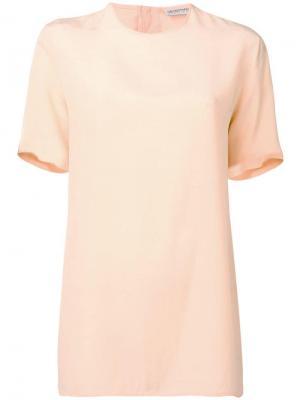 Блузка 1980-х годов с короткими рукавами Giorgio Armani Pre-Owned. Цвет: оранжевый