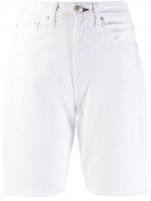 Джинсовые шорты с завышенной талией Rag & Bone. Цвет: нейтральные цвета