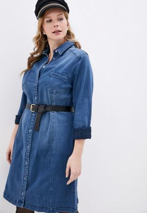 Платье джинсовое Studio Untold. Цвет: синий