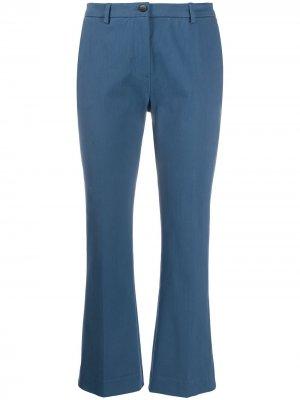 Укороченные расклешенные брюки Pt01. Цвет: синий