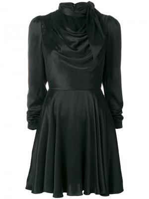 Короткое платье с драпировками Zimmermann. Цвет: черный