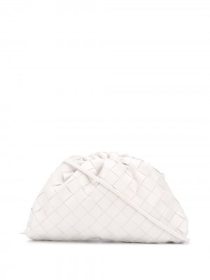 Клатч  Mini Pouch с плетением Intrecciato Bottega Veneta. Цвет: белый