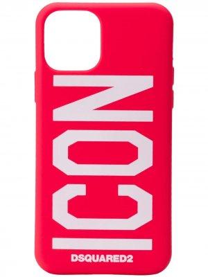 Чехол для iPhone 11 Pro с принтом Icon Dsquared2. Цвет: красный