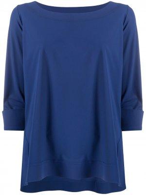 Топ Angeline с вырезом-лодочкой Le Petite Robe Di Chiara Boni. Цвет: синий