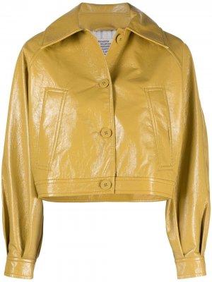 Укороченная куртка на пуговицах Baum Und Pferdgarten. Цвет: желтый