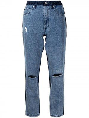 Укороченные джинсы izzue. Цвет: синий