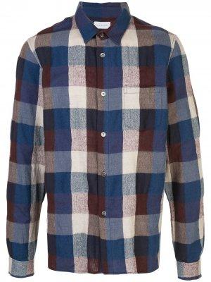 Клетчатая рубашка с длинными рукавами John Elliott. Цвет: синий