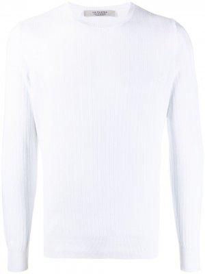 La Fileria For Daniello пуловер с узором шеврон D'aniello. Цвет: белый
