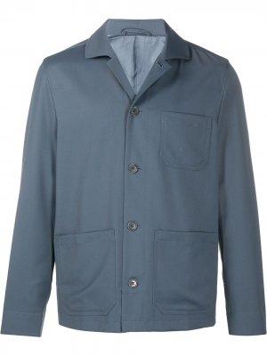 Габардиновая куртка Louis Filippa K. Цвет: синий