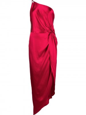 Платье с драпировкой Michelle Mason. Цвет: красный