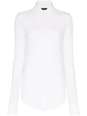 Рубашка узкого кроя Alled-Martinez. Цвет: белый