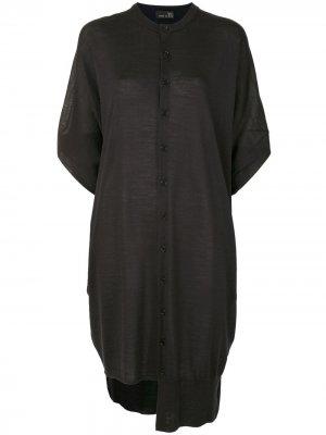 Ys платье на пуговицах с короткими рукавами Y's. Цвет: синий
