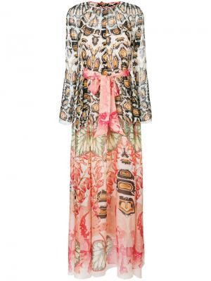 Платье макси с поясом и принтом Temperley London. Цвет: розовый