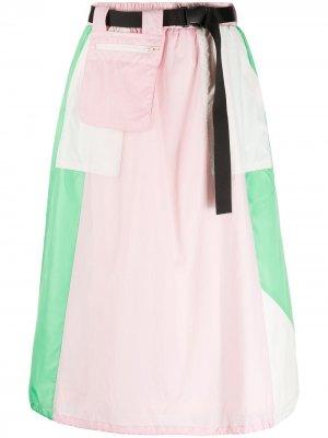 Спортивная юбка SJYP. Цвет: синий