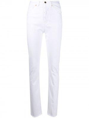 Зауженные джинсы с завышенной талией Alexandre Vauthier. Цвет: белый