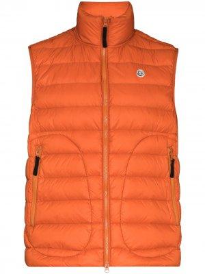 Дутый жилет с нашивкой-логотипом Billionaire Boys Club. Цвет: оранжевый