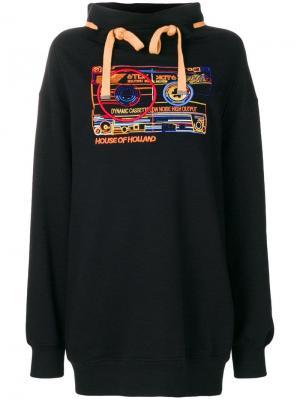 Cassette oversize sweatshirt House Of Holland. Цвет: черный