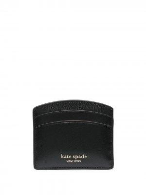 Картхолдер с тисненым логотипом Kate Spade. Цвет: черный