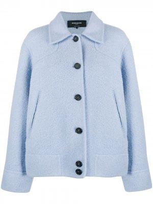 Куртка оверсайз на пуговицах Rochas. Цвет: синий