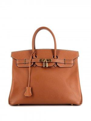 Сумка-тоут Birkin 35 pre-owned Hermès. Цвет: коричневый