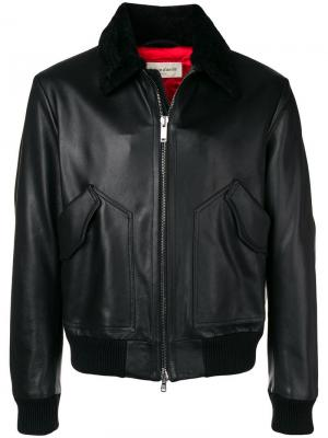 Кожаная куртка Al Duca D'Aosta 1902. Цвет: черный